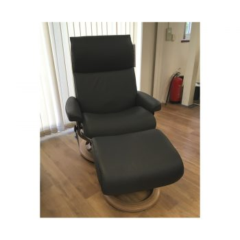 Stressless Aura (L) Chair & Stool