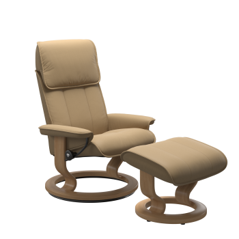 Stressless Admiral Chair and Stool (Classic base)