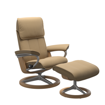 Stressless Admiral Chair & Stool (Signature base)